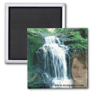 Wolf of the Past square magent 2 Inch Square Magnet