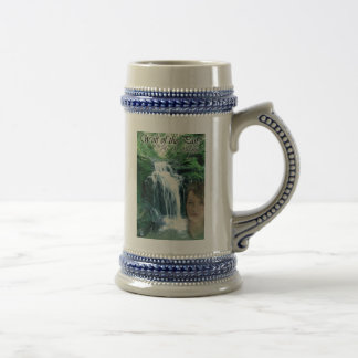 Wolf of the Past stein with cover art on front