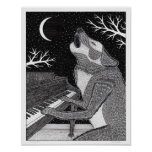 Wolf on Keys Poster