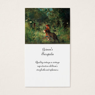 Wolf on Path with Red Business Card