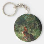 Wolf on Path with Red Keychains