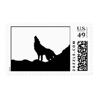 Wolf on the Hill Postage