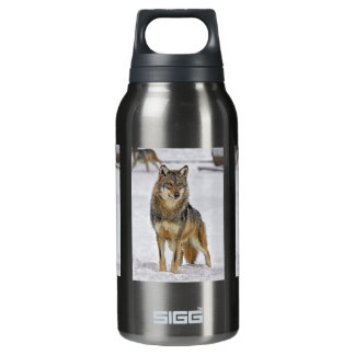 Wolf On Watch Insulated Water Bottle