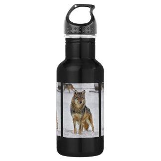 Wolf On Watch 18oz Water Bottle
