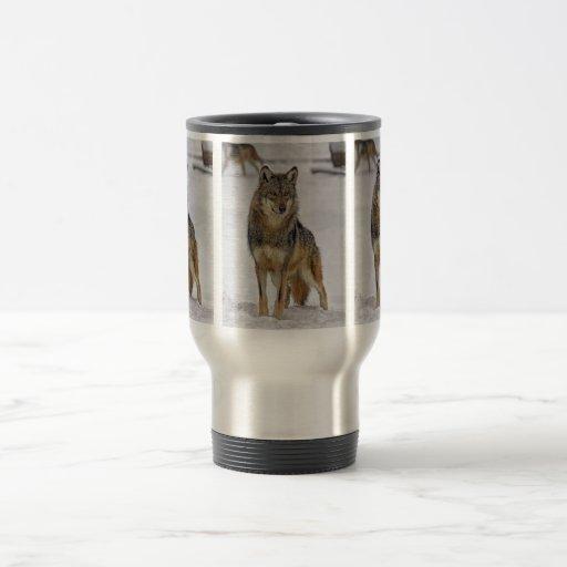 Wolf On Watch Travel Mug