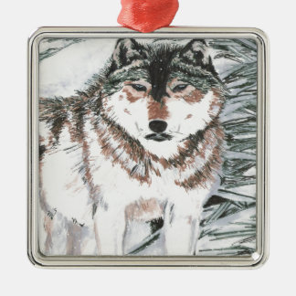 Wolf Christmas Tree Ornaments