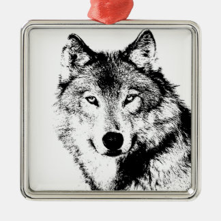 Wolf Christmas Ornaments