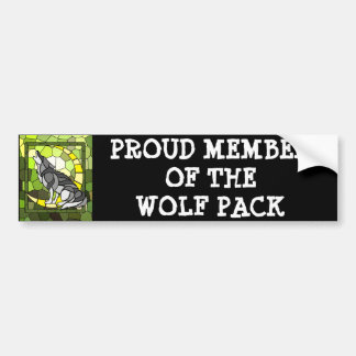 Wolf Pack Bumper Sticker