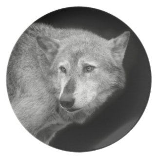 Wolf Pack Leader copy.jpg Dinner Plate
