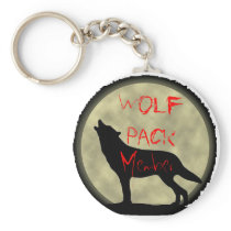 Wolf Pack Member Keychain