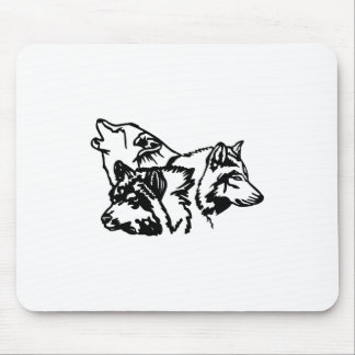 Wolf Pack Outline Mouse Pad