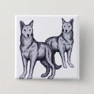 Wolf Pack Pinback Button