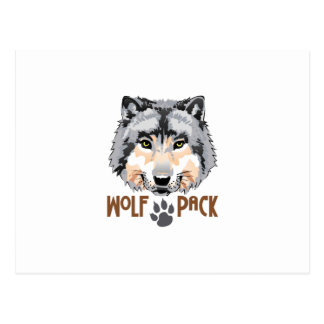 WOLF PACK POSTCARD