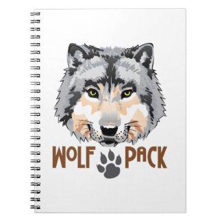 WOLF PACK SPIRAL NOTEBOOK