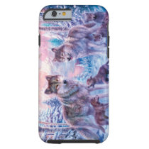 Wolf painting - arctic wolf - grey wolf tough iPhone 6 case