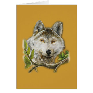 Wolf Painting with just face Card