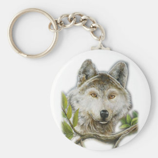 Wolf Painting with just face Keychain