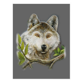 Wolf Painting with just face Postcard