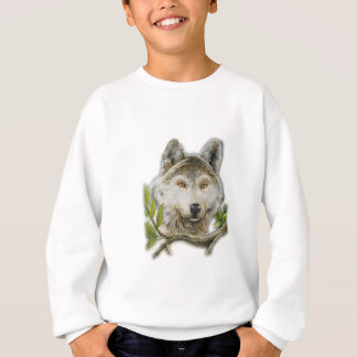 Wolf Painting with just face Sweatshirt