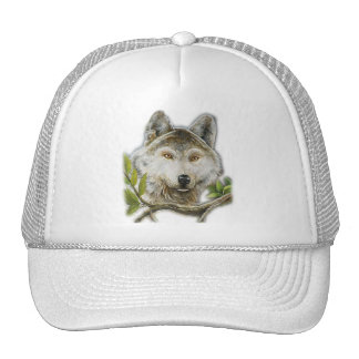 Wolf Painting with just face Trucker Hat