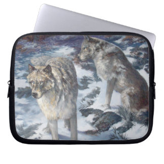 "Wolf Pair 10"" Neoprene Laptop Cover"