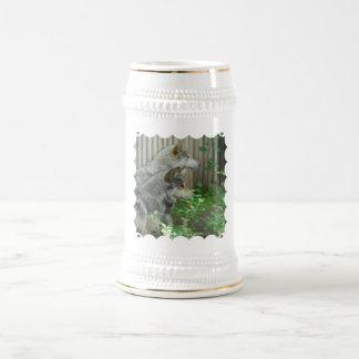Wolf Pair  Beer Stein Coffee Mug