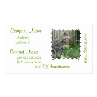 Wolf Pair Business Cards