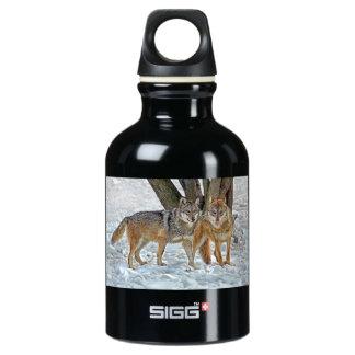 Wolf Pair in Snow SIGG Traveler 0.3L Water Bottle