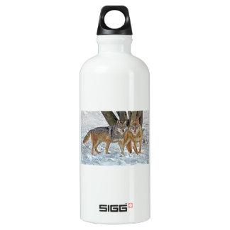 Wolf Pair in Snow SIGG Traveler 0.6L Water Bottle