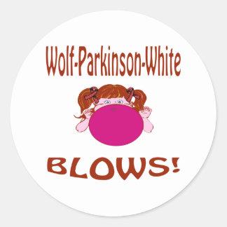 Wolf-Parkinson-White Classic Round Sticker