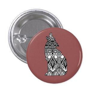 Wolf Pattern Button