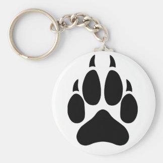 Wolf Paw Basic Round Button Keychain