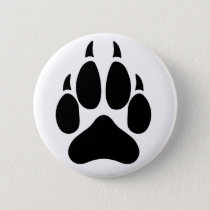 Wolf Paw Button