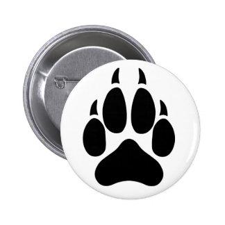 Wolf Paw Button