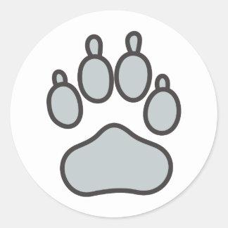 Wolf Paw Classic Round Sticker