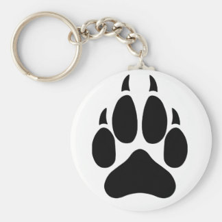 Wolf Paw Keychain