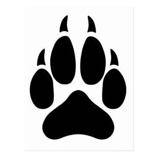 Wolf Paw Postcard
