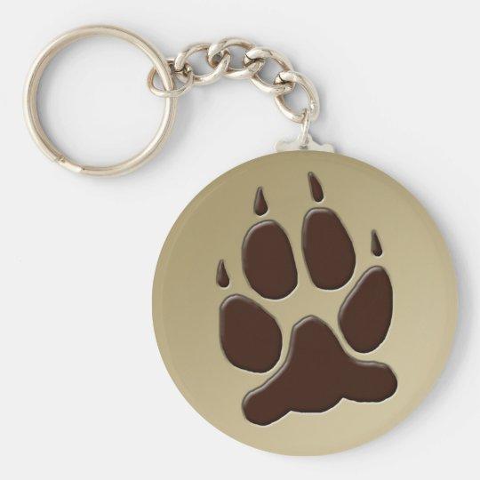Wolf Paw Print Keychain