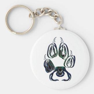 Wolf Paw Print Key Chain
