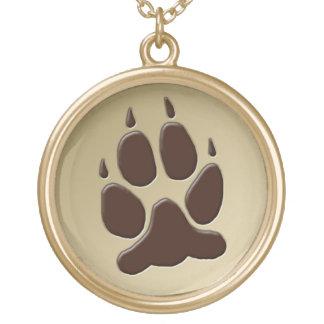 Wolf Paw Print Pendant