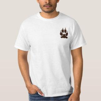 Wolf Paw Print Silhouette T-Shirt
