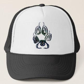 Wolf Paw Print Trucker Hat