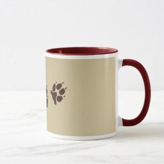 Wolf Paw Prints Mug
