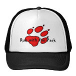 wolf paw, Run with the Pack Trucker Hats
