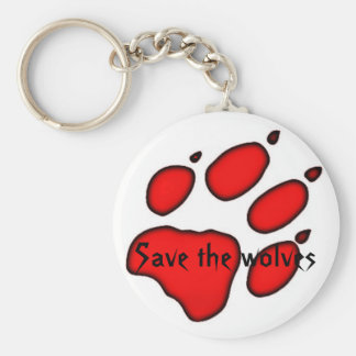 wolf paw, Save the wolves Keychain