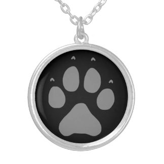 Wolf Paw Silver Plated Necklace