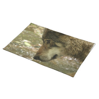 Wolf Pawing Water Cloth Placemat