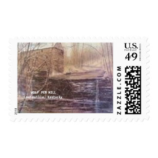 WOLF PEN MILL POSTAGE STAMP