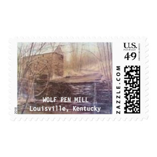 """""""WOLF PEN MILL"""" STAMP"""