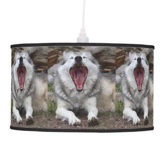 wolf pendant lamp